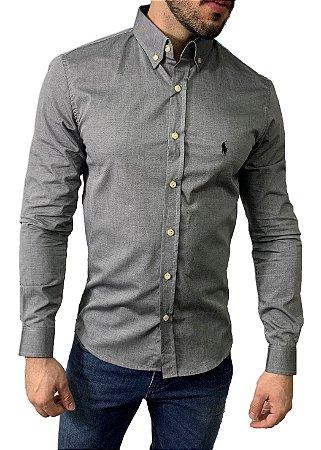 Camisa Ralph Lauren Algodão Cinza