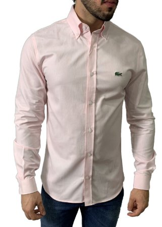 Camisa Lacoste Oxford Rosa