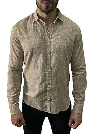 Camisa Reserva Linho Flame Textura Khaki