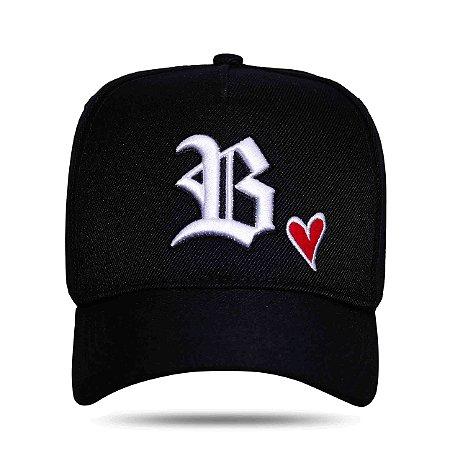 Boné Blck Strapback Heart Black