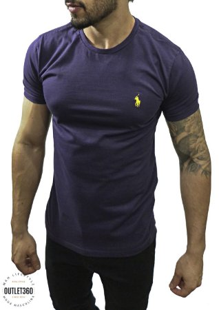 Camiseta Ralph Lauren Básica Roxa