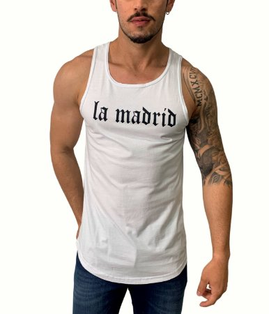 Camiseta Regata Long La Madrid White
