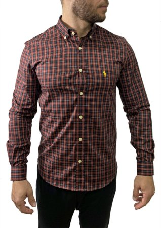 Camisa Ralph Lauren Xadrez Vermelha