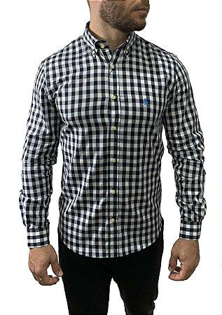 Camisa Ralph Lauren Xadrez Preta e Branca