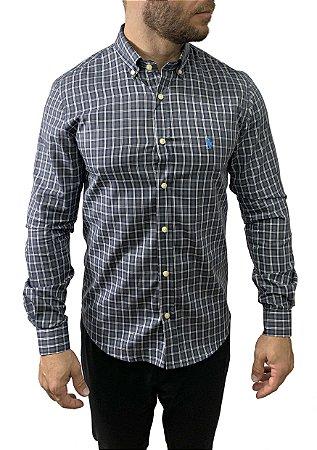Camisa Ralph Lauren Xadrez Preta
