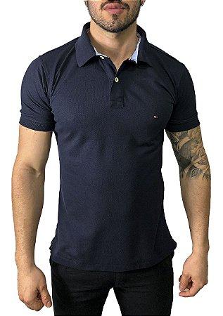 Camisa Polo Tommy Hilfiger Azul Marinho