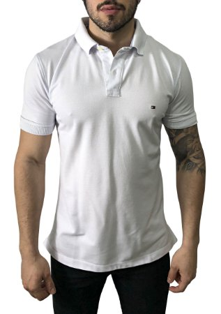 Camisa Polo Tommy Hilfiger Branca