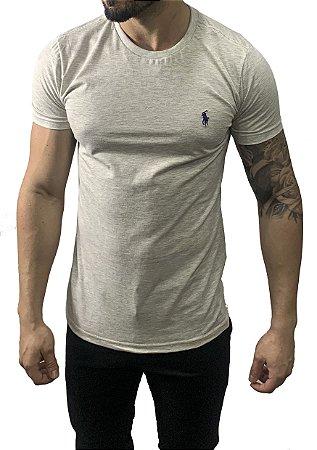 Camiseta Ralph Lauren Básica Cinza Claro