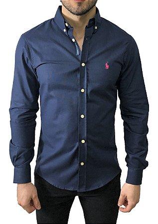 Camisa Ralph Lauren Oxford Azul Marinho