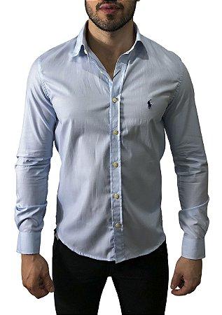 Camisa Ralph Lauren Azul Claro