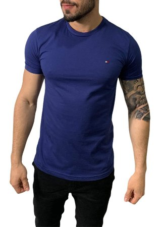 Camiseta Tommy Hilfiger Básica Azul Marinho