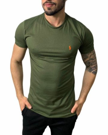 Camiseta Ralph Lauren Básica Verde Oliva