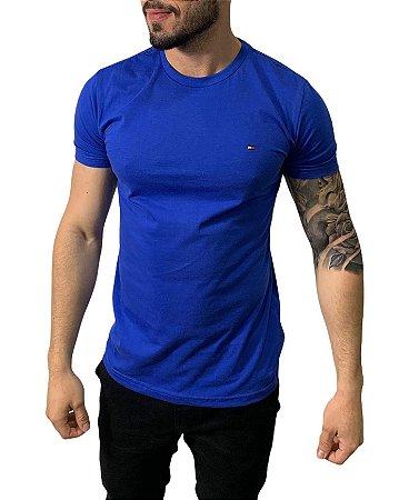 Camiseta Tommy Hilfiger Básica Azul