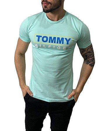 Camiseta Tommy Hilfiger Estampada Azul Capri