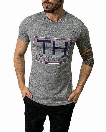 Camiseta Tommy Hilfiger Cinza