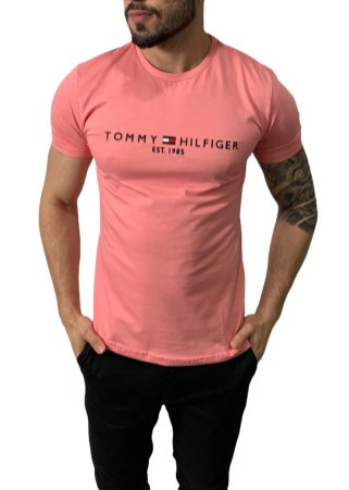Camiseta Tommy Hilfiger 1985 Salmão