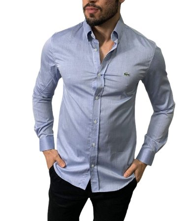 Camisa Lacoste Azul Denim