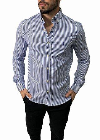 Camisa Ralph Lauren Listrada Azul Marinho