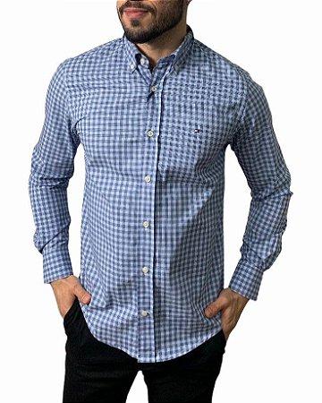 Camisa Tommy Hilfiger Xadrez Azul