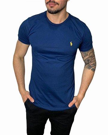 Camiseta Ralph Lauren Básica Azul Denim