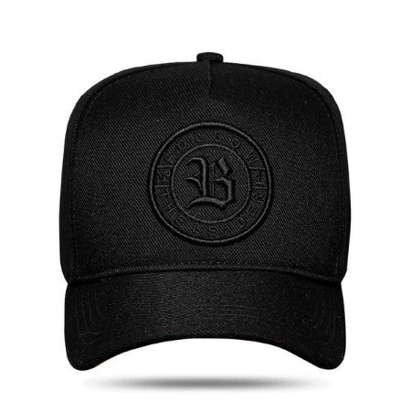 Boné Blck Snapback The Leader All Black