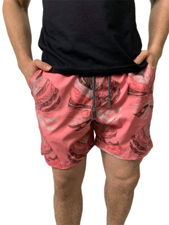 Shorts Red Feather Swim Rosa