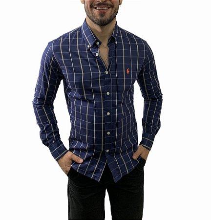 Camisa Ralph Lauren Xadrez Marinho Elegant
