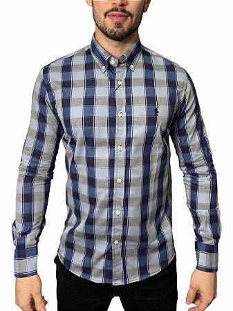 Camisa Ralph Lauren Xadrez Chumbo / Marinho