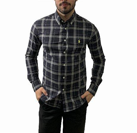 Camisa Ralph Lauren Xadrez Black