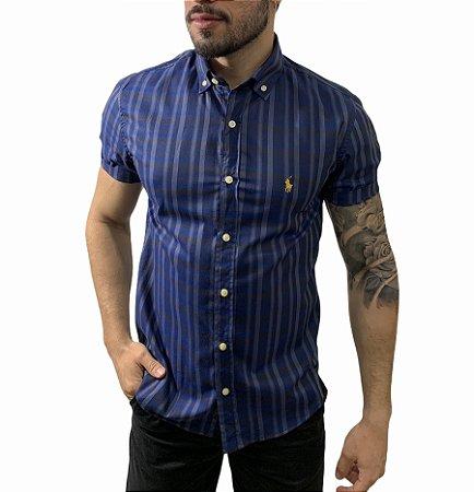 Camisa Ralph Lauren Xadrez Navy Blue