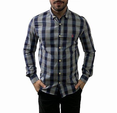 Camisa Ralph Lauren Xadrez Marinho Chumbo