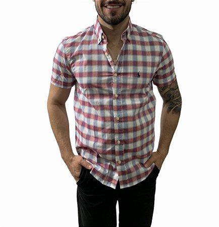 Camisa Ralph Lauren Xadrez Marsala