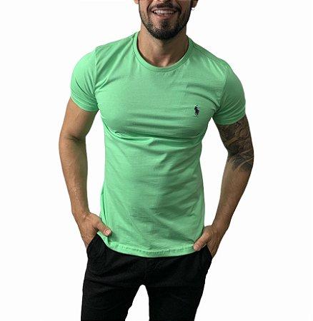 Camiseta Ralph Lauren Básica Verde Lima
