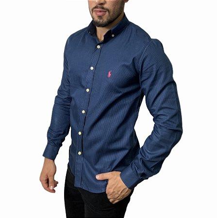 Camisa Ralph Lauren Quadriculada Azul Marinho