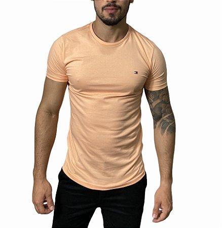 Camiseta Tommy Hilfiger Básica Coral