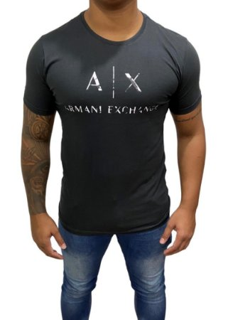Camiseta Armani Exchange Camuflagem