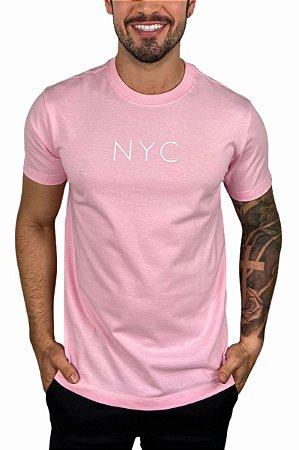 Camiseta New Era Botany NYC Rosa