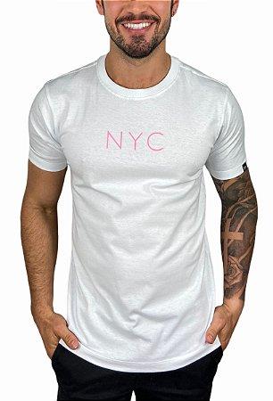 Camiseta New Era Botany NYC Branca