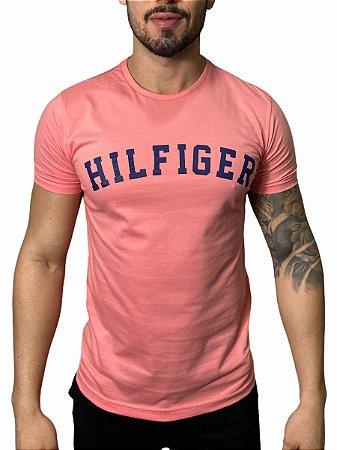 Camiseta Tommy Hilfiger Salmão