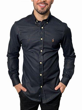 Camisa Ralph Lauren Oxford Preta