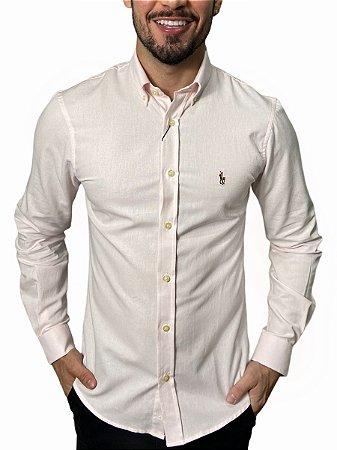 Camisa Ralph Lauren Oxford Rosa