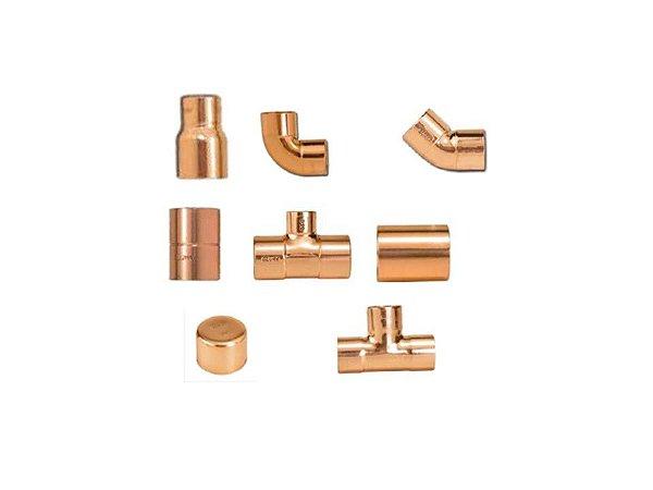 conexões em cobre (escolha o seu)