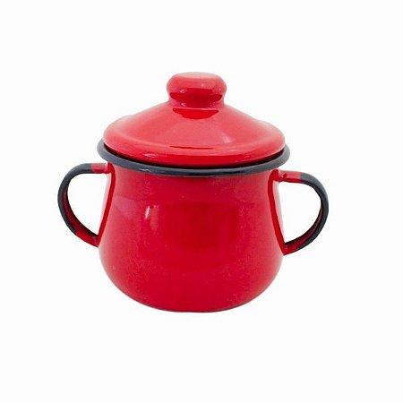 Açucareiro Esmaltado Vermelho - 380ml