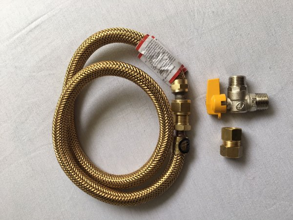 Kit de Instalação de Fogão Gás Natural 0,8m