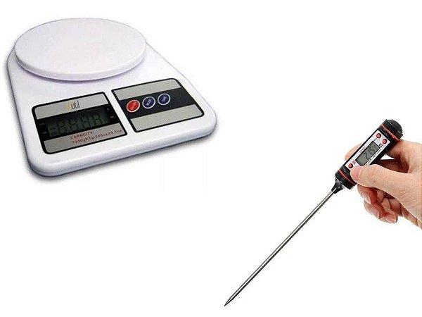 kit culinária digital - balanca e termometro