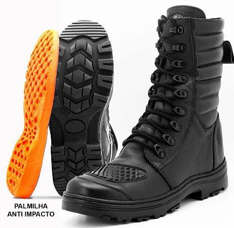 f1e94bc9773 Bota motociclista Atron Shoes em couro cor preto 277