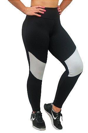 Calça Legging com detalhe branco b6b01067311