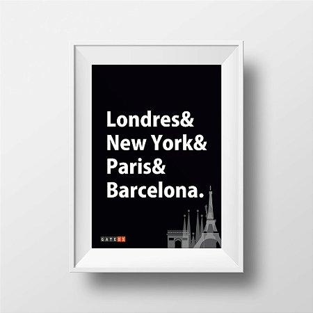 Pôster Cidades do Mundo