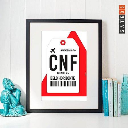 Poster Aeroporto CNF - Confins - Belo Horizonte