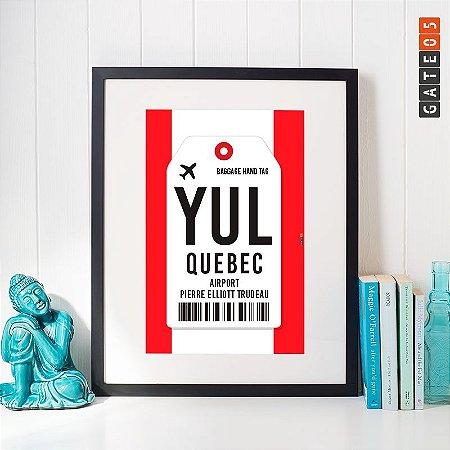Pôster Aeroporto YUL- Quebec - Cánada